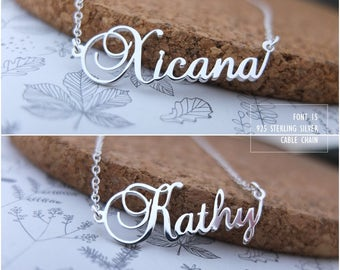 Personalized Name Necklace-Custom Name Necklace-Custom Name Gift-Your Name Necklace-Bridesmaids Jewelry-Children Names-Birthday Gift. #NF15