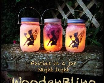 Fairy Lights, Night Light, Fairy, Fairies, Birthday Gift, Gift for Girls, Mason Jars, Party Favors, Fairy Theme