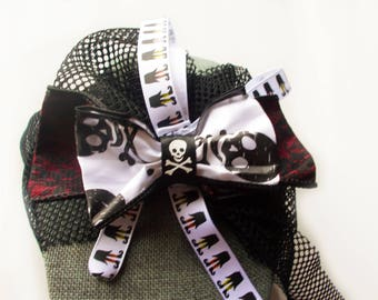 Bow Choker - Lace Choker - Witch Legs - Witch Fashion - Black Bow - Black Choker - Witches - Fish Nets - Witch Fashion - Gothic Lolita