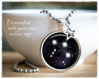 Constellation Jewelry • Zodiac Necklace • Star Sign Necklace • Zodiac Sign • Astrology Gift
