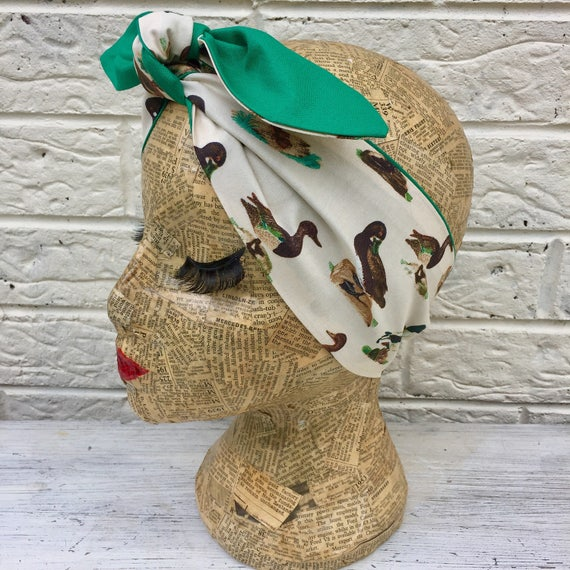 Duck Mallard Headscarf Rockabilly Pinup
