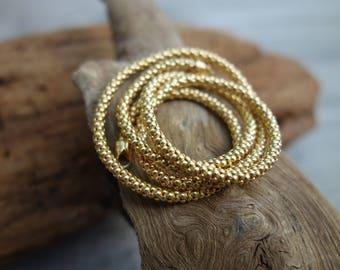Snake style chain. 24k Goldfield.