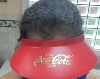 1980s Coke Hat Coca Cola Visor Vintage Plastic Coke Advertising Visor One Size Fits All