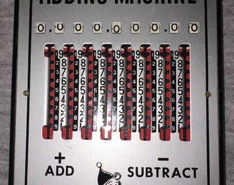 Tom Thumb Adding Machine Miniature Metal Vintage Early Calculator Retro Circa 1950s-60s
