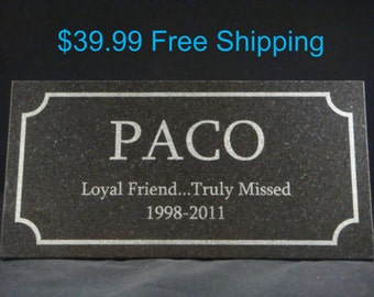 Granite Custom Pet Memorial