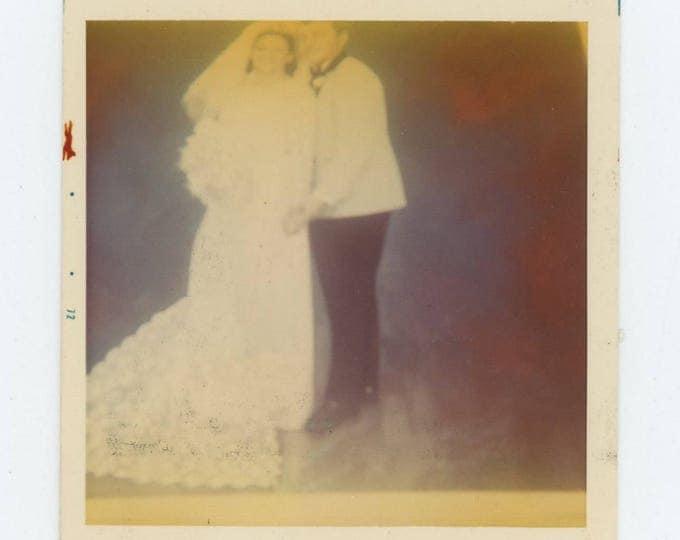 Vintage Snapshot Photo: A Photo of a Wedding Photo, 1972 (73554)