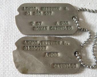 World War II Dog ID Tags - 26 inch Chain