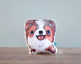 Red Merle Australian Shepherd Pillow