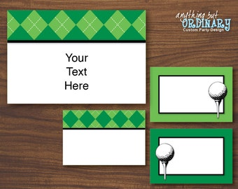 Golf ParTEE Editable Label Cards, Printable Golf Labels, INSTANT DOWNLOAD, digital file