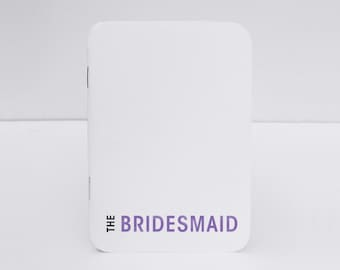 Will You Be My Bridesmaid Notebook Gift, This little journal is perfect for tracking wedding planning duties, Perfect wedding attendant gift