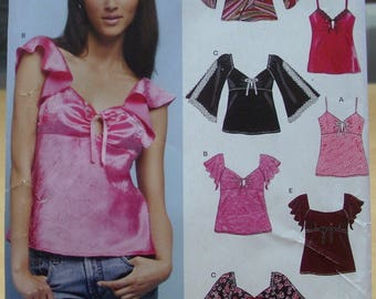 FREE SHIPPING! New Look 6408 Spring or summer top sizes 6-16 UNCUT