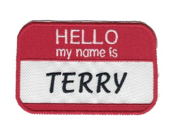Hello My Name Is Custom Patch Name Patch  Personalized Name Patch Name Tag VELCRO® Brand Fastener Available