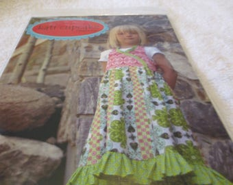 Paper Pattern for a Peggy Sue girl's dress from Kati Cupcake for sizes 6 months-12