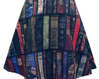 Bookcase Skater Skirt