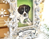 Custom Pet Ornament - Personalized Ornament - Pet Portrait Painting from Your Photo