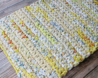 Rag Rug - Thick Bath Mat - Kitchen Rug - Bedroom Decor - One of a Kind Baby Shower Gift - Bathroom Rug - Rectangular - Throw - Accent  Area