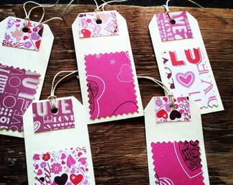 Hand decorated love tags