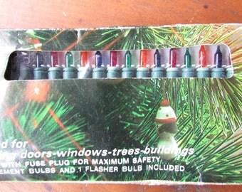 Twinkling Christmas Tree Lights NOS Vintage