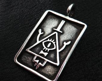 Bill Cipher Silberanhänger