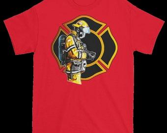 Firefighter maltese T shirt