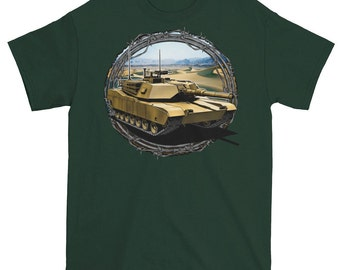 Tank and Barbwire t shirt