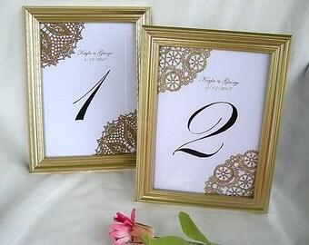 Gold Table Card Frame Table Card Frame Wedding Table Numbers Table Cards Gold Frame Gold Table Card Frames Elegant Reusable Formal Frame