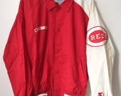 vintage cincinnati reds starter jacket mens size medium