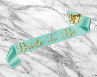 Bride To Be Sash - Bridal Sash - Bachelorette Sash - Satin Bride Sash - Glitter Sash