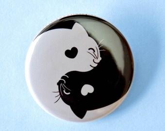 Yin Yang Cat Pinback Button