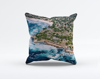 Laguna Beach Pillow Cover 15 x 15 inch, California cushion cover, Decorative Pillow Cover, Home decor