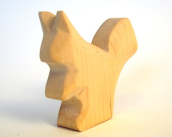 Squirrel, Wooden Animal, Waldorf Toy, Woodworking, Natural Toy, Talisman, Toddler Toy, Wooden Squirrel