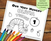 The Very Hungry Caterpillar Birthday Party Favor, Very Hungry Caterpillar Party Activity Book, Very Hungry Caterpillar Party Games