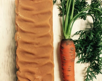Fresh Puréed Carrot Bar, Natural goodness from the local farm, Moisturizing Skin Care, 4.5 oz Soap Bar, Best for Aging, Mature Skin