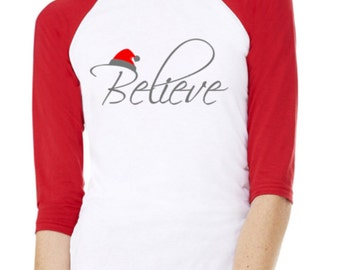 Womens Believe Raglan