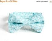 30 PERCENT OFF Boy's Bow Tie, Newborn, Baby, Child- Aqua, White, Circles (2-3 Business Day Processing)