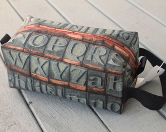 Vintage Letterpress Practical Bag