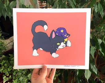 Wizard Kitten Print - M