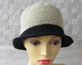 Designer Vegan Cloche Hat Chemotherapy cloche Sun Hat Crochet Beanie