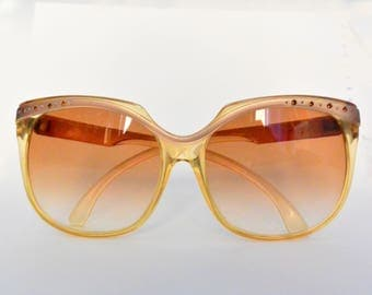 Vintage french sunglasses pink/rose with crystals MADE IN FRANCE