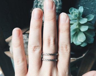 Spiral - Sterling Silver Stacking Ring
