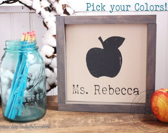 Personalized Teacher's Desk Name Sign-Teacher's Gift-Teacher's Name Gift-Design your own Personalized Teacher's gift-wall/deskdecor8.75x8.75