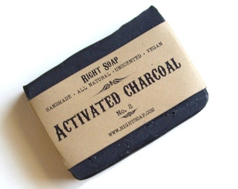 Charcoal  Soap - All Natural soap, Unscented Soap, Vegan Soap, detox soap,  Men soap,  face soap,  gift for men,  homemade soap