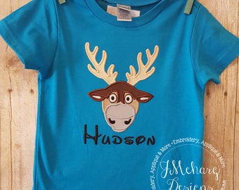 Sven Inspired Custom embroidered Disney Inspired Vacation Shirts for the Family! 81a no ears