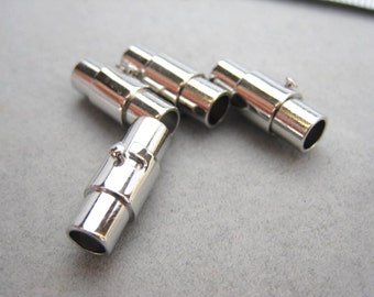 Magnetic Screw clasps, Stainless Steel 304, Magnetic closure Clasp for leather cord, 4mm leather cord, EB-001