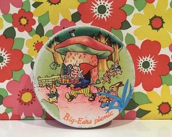 Vintage Big Ears Picnic Huntley and Palmers Tin Retro Kitsch Noddy