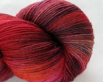 Hand-Dyed Sock Yarn - Woolly-Paca - Krakatoa