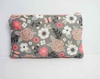 Small cotton zipper pouch