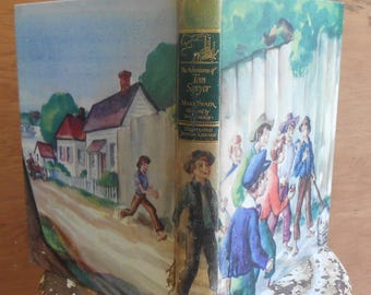 Vintage Collectible The Adventures of Tom Sawyer Book 1946 Edition Illustrated Junior Library Classic Mark Twain Young Adult Fiction