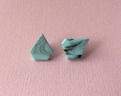 Marble Mint Abstract Earring Stud