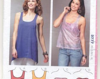 KwikSew 3777 Ladies Tops Sewing pattern